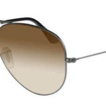 Kalete RAY BAN 3025 55 AVIATOR 004/51 GUNMETAL SUNGLASSES SUNGLASSES GREY