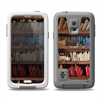 The Vintage Bookcase V1 Samsung Galaxy S5 LifeProof Fre Case Skin Set