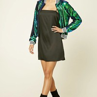 Two-Toned Sequin Bomber Jacket