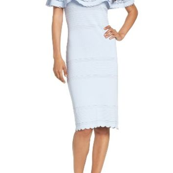 Eliza J Off the Shoulder Sheath Dress (Regular & Petite) | Nordstrom