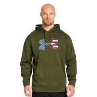 Under Armour Men's Big Flag Logo Tackle Twill Fleece Hoodie