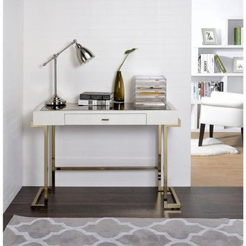 Acme Furniture Boice White Wood and Metal Mirror-top Desk | Overstock.com Shopping - The Best Deals on Desks
