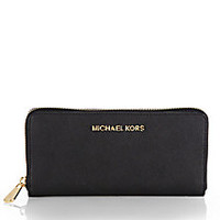 MICHAEL MICHAEL KORS - Jet Set Continental Zip-Around Wallet - Saks Fifth Avenue Mobile