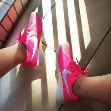 "NIKE"" Roshe One Women Casual Sport Shoes Sneakers Rose G"