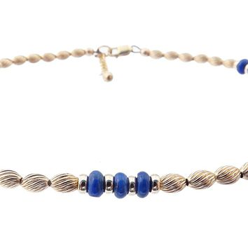 14k Gold-Filled Blue Lapis Lazuli Anklet | Transformation | Intuition | Personal Power | Ankle Bracelet | Healing Crystals