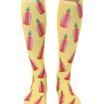 Hot Sauce Knee High Socks