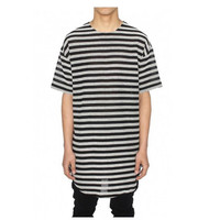 new summer style mens t shirts top tees hip hop hip-hop swag striped t-shirt long extended kanye clothes clothing