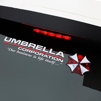 1PC 43 cm Car Styling Umbrella Resident Evil Personality PVC Sticker Protective Car Sticker Decoration for Auto Door Body Window