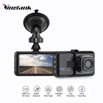 Vingtank 3 inch Car DVR Camera 360 Rotation Dash Camera Camcorder Video Recorder Support Motion Detection/G-sensor/Loop Video