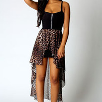 Sophia Leopard Skirt Mixi Dress