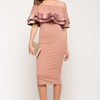 Satin Senorita Ruffle Dress