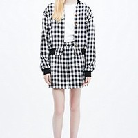 Urban Renewal Vintage Remnants Textured Plaid Bomber Jacket - Urban Outfitters