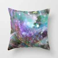 reaching the mystery Throw Pillow by Marianna Tankelevich | Society6