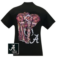 Alabama Elephant on black