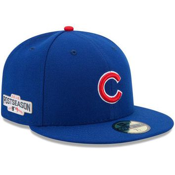 Men's Chicago Cubs New Era Royal 2016 Postseason Authentic Collection On-Field 59FIFTY Game Performance Fitted Hat