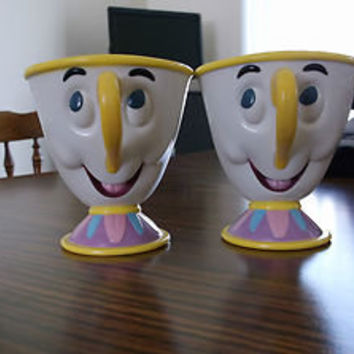 2 Chip Tea Cup Beauty and the Beast Character Plastic Mug Ringling Bros Barnum