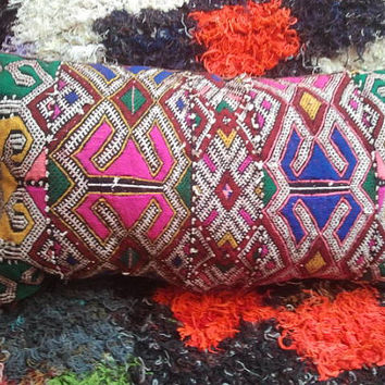 moroccan pillow; traditionnel;moroccan decor;24x12;handmade;berber pillow