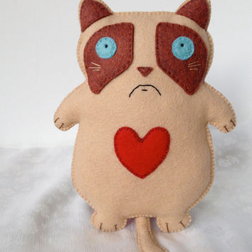 Grumpy Cat Doll Stuffed Animal Plush Toy Kitty Plushie Meme Ragdoll Kitties