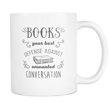 Book Coffee Cup - Books your best defense