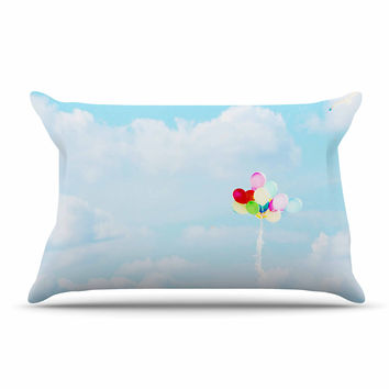 "Sylvia Coomes ""Balloons in the Sky"" Photography Kids Pillow Case"