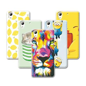 Fruit Art Print Painting Cat Minions Banana Prefect Case For HTC Desire 626 626w 626d 626g Cover For HTC 626+Free Stylus Gift