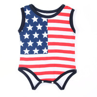 Charm Baby Boys Apparel Girls Toddlers Playsuit Newborn Flag Romper Jumpsuit SM6