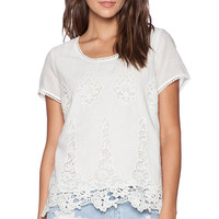LA Made Donna Keyhole Top in White