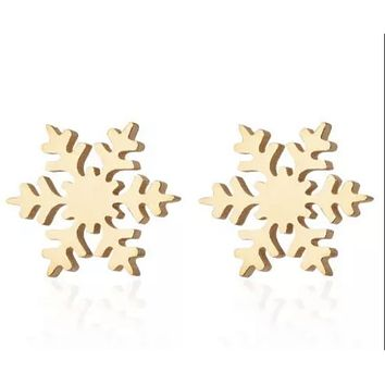 Infant Tiny Snowflake Earrings