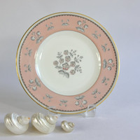 Wedgwood Bone China, Salad Plates, Pimpernel Pink, Set of 3