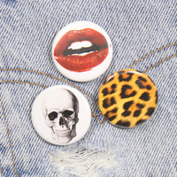 Leopard Print 1.25 Inch Pin Back Button Badge