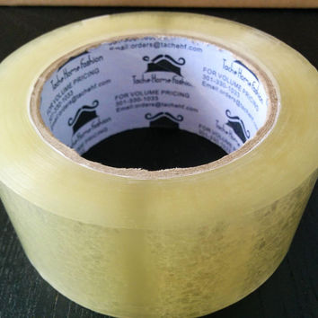 Tache 72 Rolls Clear Acrylic Sealing Packing Tape 1.89 Inches x 110 Yard x 1.89 MIL