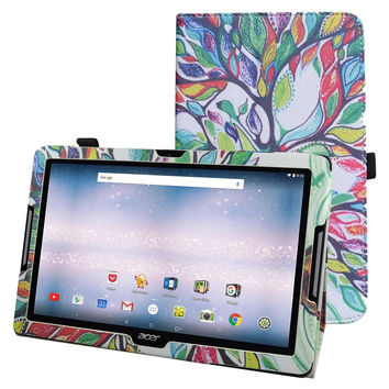 "New Folio Stand Cover Flip PU Leather Shockproof Case For 10.1""Acer Iconia One 10 B3-A30 Android Tablet"