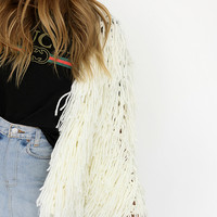 Spirit In The Sky Shaggy Jacket // White