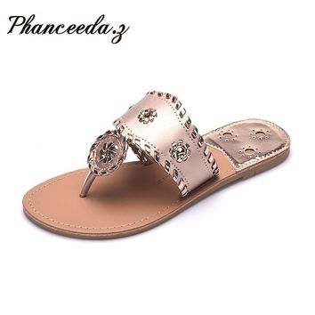 New 2017 Shoes Women Sandals Fashion Flip Flops Summer Style Hair ball Chains Flats So