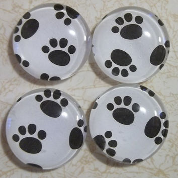 Magnets, pawprints, animal lover magnets, pawprint magnets, fridge magnets
