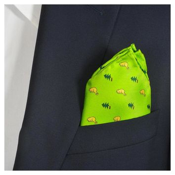Beaver Pocket Square - Light Beaver