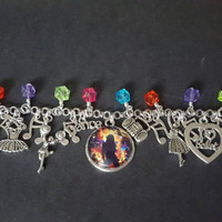 Dance and music inspired charm bracelet