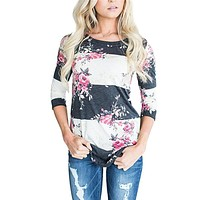 Long Sleeve Floral T-Shirt