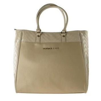 Versace Jeans E1VFBBL9 Shoulder Bag Tote For Women in Taupe Gold Color