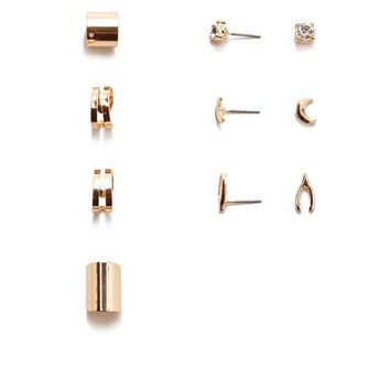 Cuff & Stud Earring Set