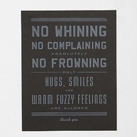 Hammerpress No Whining Art Print - Urban Outfitters