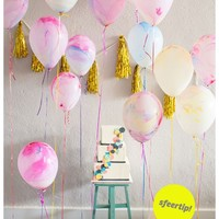 Marble balloons set 5 pc