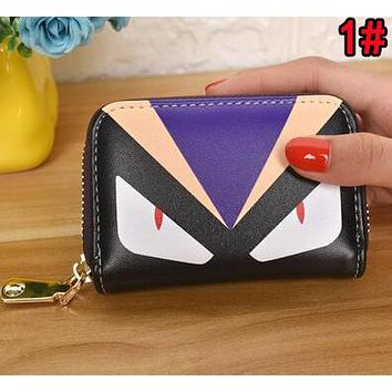 FENDI Women Men Clutch Bag Zero Wallet Purse Card Bag 1#
