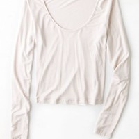 AEO Women's Don't Ask Why Scoop Neck Top