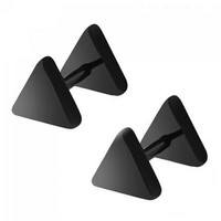 Pair of Vintage Triangle Earrings For Men - Black