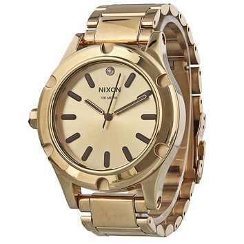 Nixon Camden Champagne Dial Rose Gold Tone Mens Watch A343-1897