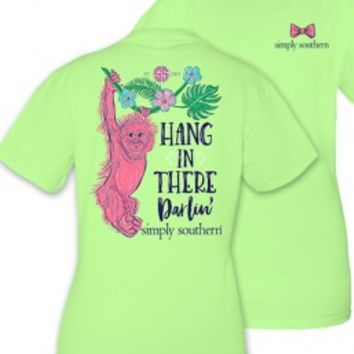 "Simply Southern YOUTH ""Hang In There Darlin'"" Tee - Limeaide"