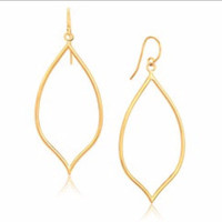 Marquise Style Polished Earrings in 14K Yellow Gold