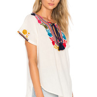Star Mela Lani Embroidered Top in Ecru & Multi | REVOLVE