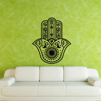 Hamsa Wall decal art decor decals sticker India amulet protection yoga Buddhism mantra eye (m188)